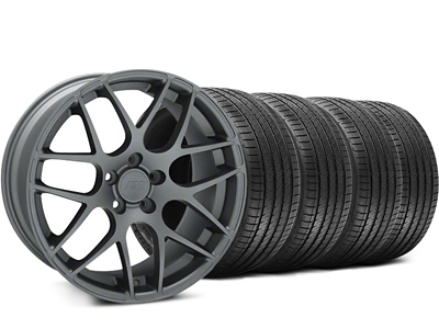 Staggered AMR Charcoal Wheel & Sumitomo Tire Kit - 18x8/9 (94-98 All)