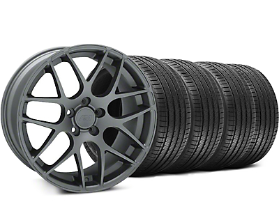 Staggered Charcoal AMR Wheel & Sumitomo Tire Kit - 18x8/9 (94-98 All)