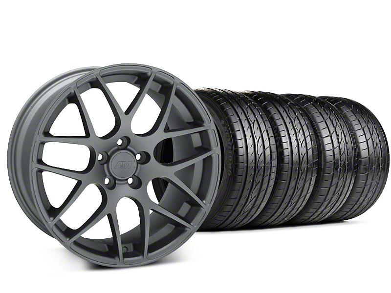 AMR Charcoal Wheel & Sumitomo Tire Kit - 19x8.5 (94-98 All)