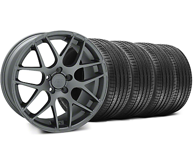 AMR Charcoal Wheel & Sumitomo Tire Kit - 18x8 (99-04 All)