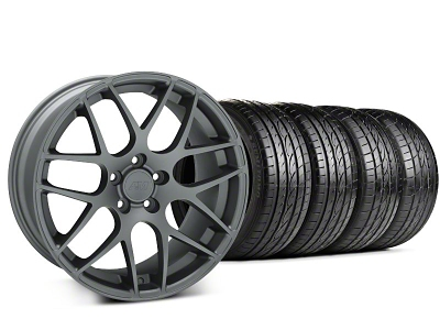 AMR Charcoal Wheel & Sumitomo Tire Kit - 19x8.5 (99-04 All)