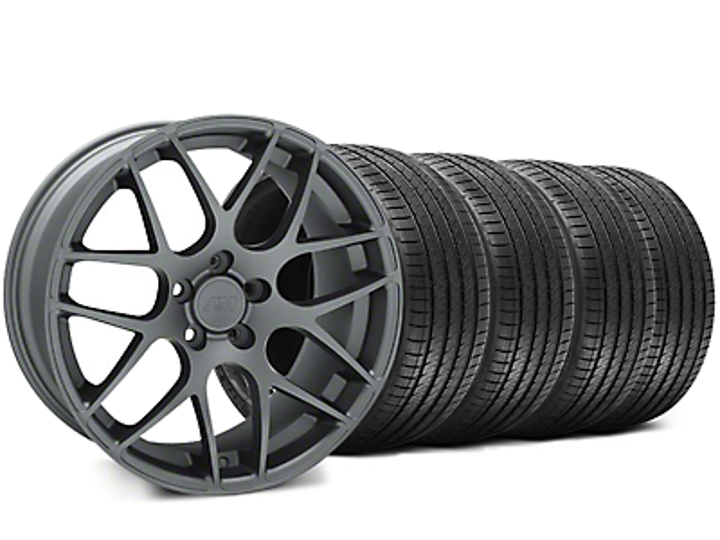 AMR Charcoal Wheel & Sumitomo Tire Kit - 18x8 (05-14 All)