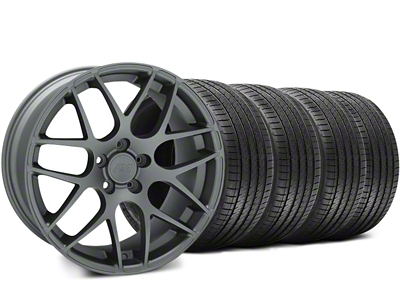 AMR Charcoal Wheel & Sumitomo Tire Kit - 18x9 (05-14 All)