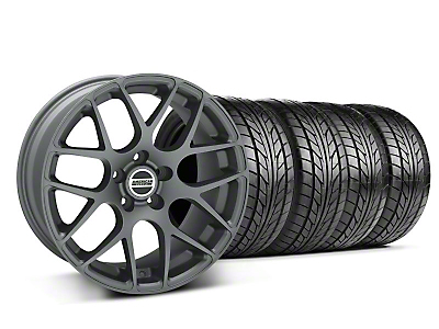 Staggered Charcoal AMR Wheel & NITTO Tire Kit - 18x9/10 (05-14 All)