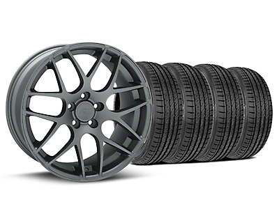 Staggered Charcoal AMR Wheel & Sumitomo Tire Kit - 19x8.5/10 (05-14 All)
