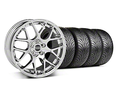 Staggered AMR Chrome Wheel & Sumitomo Tire Kit - 18x8/9 (99-04 All)