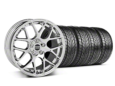 Staggered AMR Chrome Wheel & NITTO Tire Kit - 18x8/9 (99-04 All)