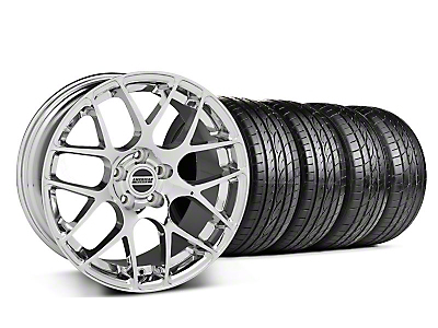 Staggered Chrome AMR Wheel & Sumitomo Tire Kit - 19x8.5/9.5 (05-13 All)
