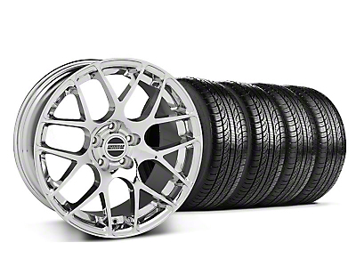 Staggered Chrome AMR Wheel & Pirelli Tire Kit - 19x8.5/9.5 (05-13 All)