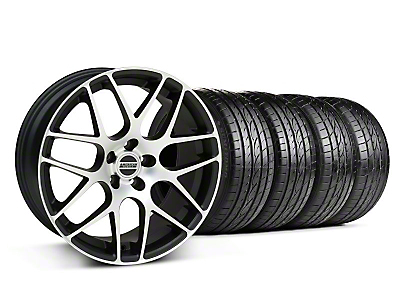 AMR Matte Black Machined Wheel & Sumitomo Tire Kit - 18x8 (05-14 All)