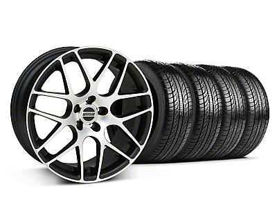 Matte Black Machined AMR Wheel & Pirelli Tire Kit - 18x8 (05-14 All)
