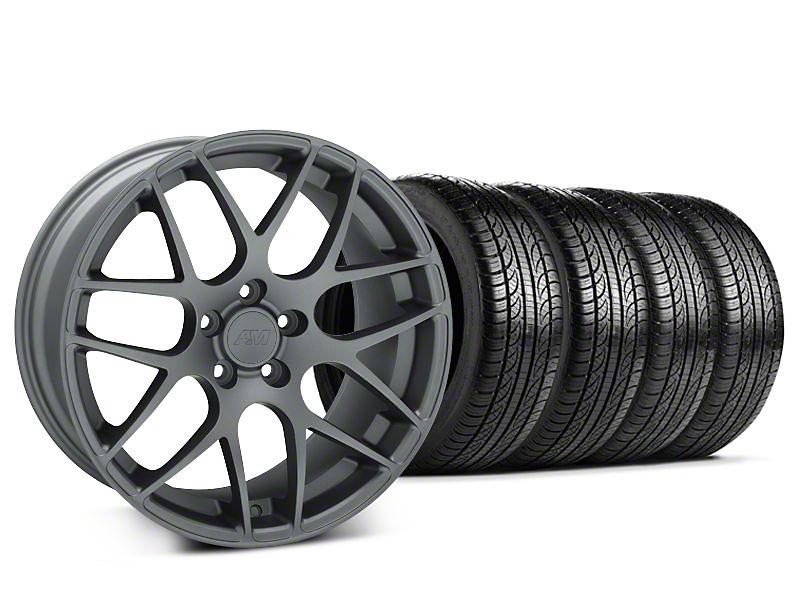 AMR Charcoal Wheel & Pirelli Tire Kit - 18x8 (05-14 All)