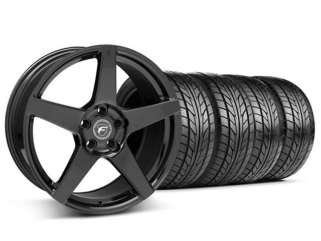 Forgestar CF5 Monoblock Piano Black Wheel & NITTO Tire Kit - 18x9 (05-14 All)