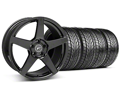 Piano Black Forgestar CF5 Wheel & NITTO Tire Kit - 18x9 (05-14 All)