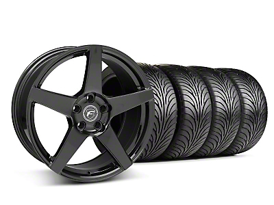Staggered Piano Black Forgestar CF5 Wheel & Sumitomo Tire Kit - 18x9/10 (05-14 All)