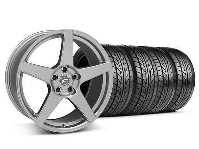 Forgestar CF5 Monoblock Gunmetal Wheel & NITTO Tire Kit - 18x9 (05-14 All)