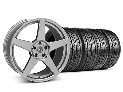 Staggered Gunmetal Forgestar CF5 Wheel & NITTO Tire Kit - 18x9/10 (05-14 All)