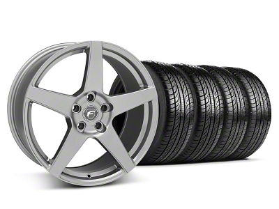 Forgestar CF5 Monoblock Gunmetal Wheel & Pirelli Tire Kit - 19x9 (05-14 All)