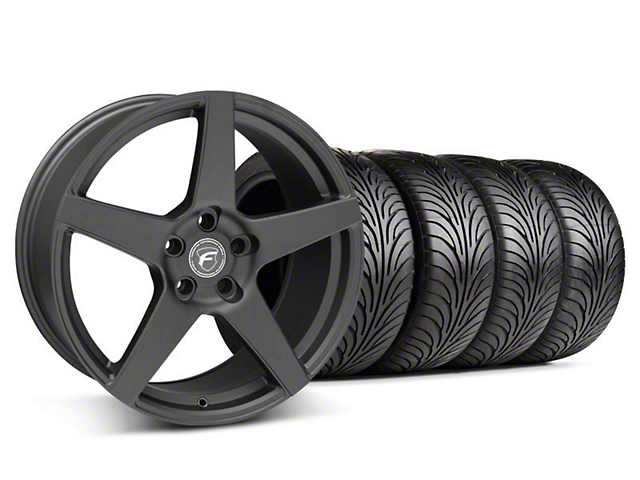 Staggered Forgestar CF5 Matte Black Wheel & Sumitomo Tire Kit - 18x9/10 (05-14 All)