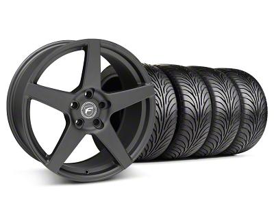 Forgestar Staggered CF5 Matte Black Wheel & Sumitomo Tire Kit - 18x9/10 (05-14 All)
