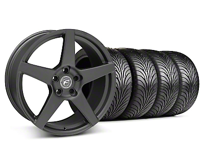 Staggered Matte Black Forgestar CF5 Wheel & Sumitomo Tire Kit - 18x9/10 (05-14 All)