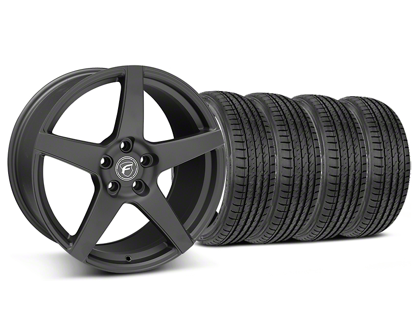 Staggered Forgestar CF5 Matte Black Wheel & Sumitomo Tire Kit - 19x9/10 (05-14 All)