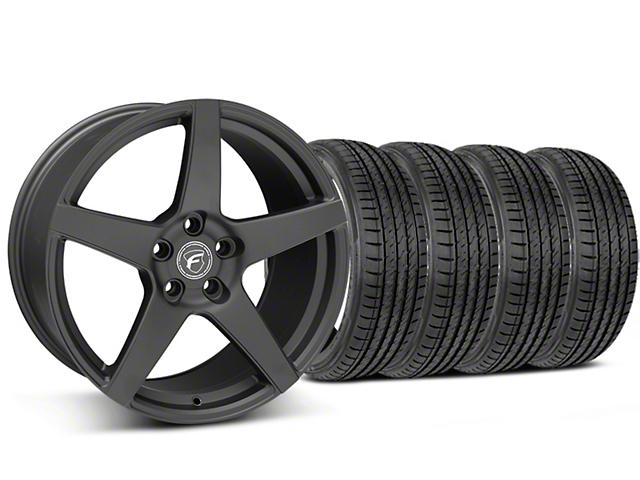 Forgestar Staggered CF5 Matte Black Wheel & Sumitomo Tire Kit - 19x9/10 (05-14 All)