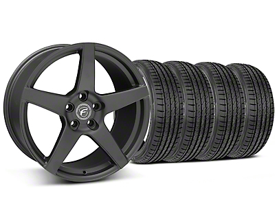 Staggered Matte Black Forgestar CF5 Wheel & Sumitomo Tire Kit - 19x9/10 (05-14 All)