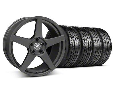 Forgestar Staggered CF5 Matte Black Wheel & Pirelli Tire Kit - 19x9/10 (05-14 All)