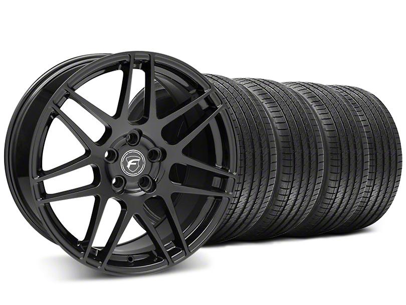 Forgestar F14 Monoblock Piano Black Wheel & Sumitomo Tire Kit - 18x9 (05-14 All)