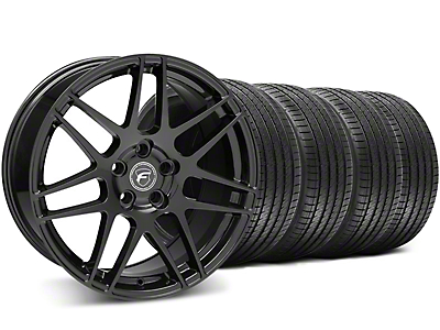 Piano Black Forgestar F14 Wheel & Sumitomo Tire Kit - 18x9 (05-14 All)