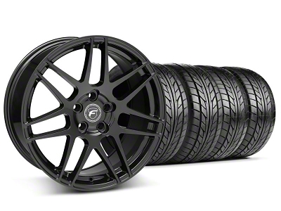 Forgestar F14 Monoblock Piano Black Wheel & NITTO Tire Kit - 18x9 (05-14 All)