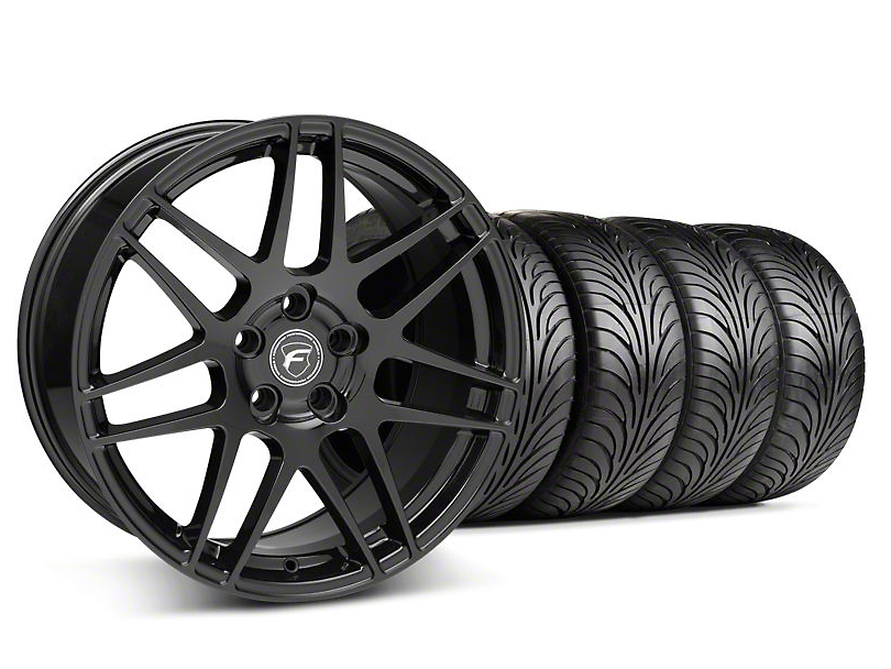 Forgestar Staggered F14 Piano Black Wheel & Sumitomo Tire Kit - 18x9/10 (05-14 All)
