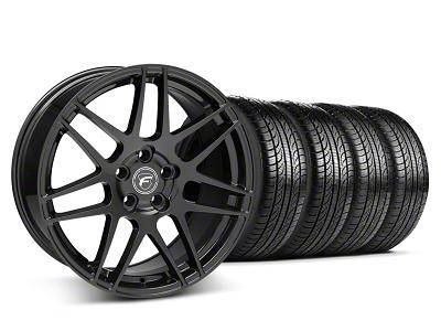 Forgestar F14 Monoblock Piano Black Wheel & Pirelli Tire Kit - 19x9 (05-14 All)