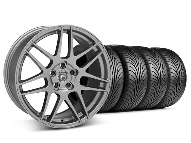 Forgestar Staggered F14 Gunmetal Wheel & Sumitomo Tire Kit - 18x9/10 (05-14 All)