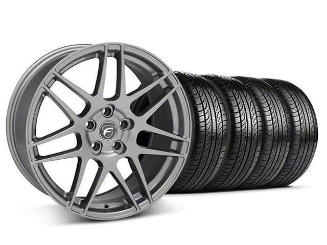 Forgestar F14 Gunmetal Wheel & Pirelli Tire Kit - 19x9 (05-14 All)