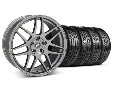 Forgestar F14 Monoblock Gunmetal Wheel & Pirelli Tire Kit - 19x9 (05-14 All)