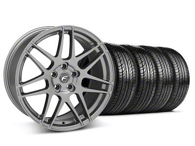 Forgestar Staggered F14 Gunmetal Wheel & Pirelli Tire Kit - 19x9/10 (05-14 All)