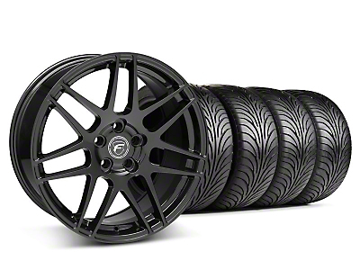Matte Black Forgestar F14 Wheel & Sumitomo Tire Kit - 18x9 (05-14 All)