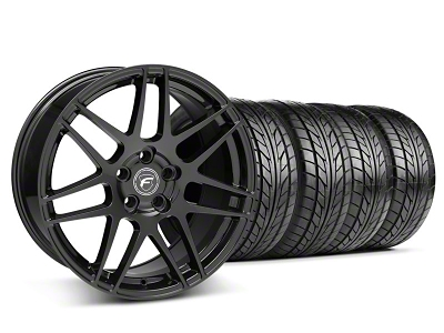 Forgestar F14 Monoblock Matte Black Wheel & NITTO Tire Kit - 18x9 (05-14 All)