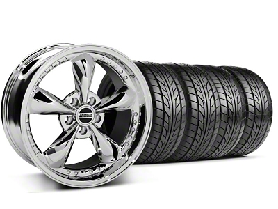 Bullitt Motorsport Chrome Wheel & NITTO Tire Kit - 18x9 (05-14 GT, V6)