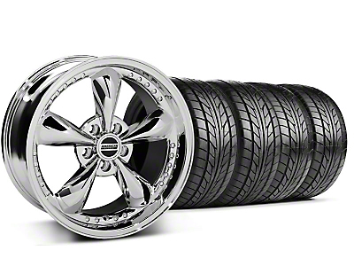 Staggered Bullitt Motorsport Chrome Wheel & NITTO Tire Kit - 18x9/10 (99-04 All)