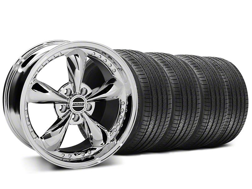 Bullitt Motorsport Chrome Wheel & Sumitomo Tire Kit - 18x9 (05-14 GT, V6)