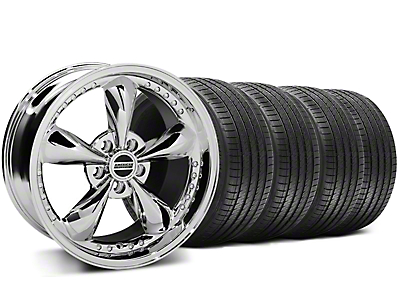 Staggered Chrome Bullitt Motorsport Wheel & Sumitomo Tire Kit - 18x9/10 (94-98 All)