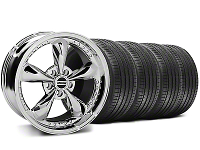 Staggered Bullitt Motorsport Chrome Wheel & Sumitomo Tire Kit - 18x9/10 (05-14 GT, V6)
