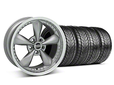 Anthracite Bullitt Motorsport Wheel & NITTO Tire Kit - 18x9 (05-14 GT, V6)