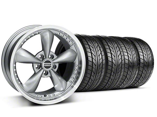 Staggered Bullitt Motorsport Anthracite Wheel & NITTO Tire Kit - 18x9/10 (99-04 All)