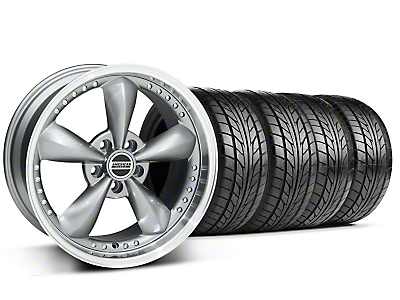 Staggered Bullitt Motorsport Anthracite Wheel & NITTO Tire Kit - 18x9/10 (99-04 All)