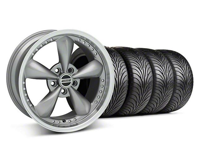 Bullitt Motorsport Anthracite Wheel & Sumitomo Tire Kit - 18x9 (05-14 GT, V6)