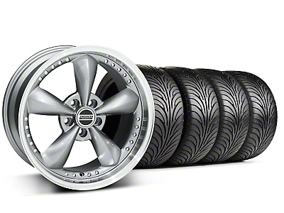 Staggered Anthracite Bullitt Motorsport Wheel & Sumitomo Tire Kit - 18x9/10 (94-98 All)